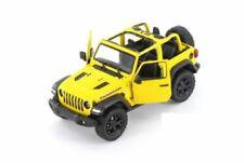 "5"" Kinsmart Jeep Wrangler Rubicon No Hard Top Diecast Model Toy Car 1:34 Yellow"
