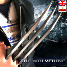 1 Pair X-Men Logan Wolverine Claws ABS Cosplay 1:1 Props Refinement Copy Steel