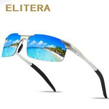 ELITERA Aluminum Magnesium Men's Sunglasses Men Polarized Coating Mirror Glasses