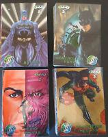 1995 COMPLETE BATMAN FOREVER METAL COMIC TRADING CARD FOIL SET