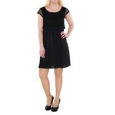 Las NUEVAS SEÑORAS NIÑAS TOM TAILOR Denim Vestido De Crochet Negro Tamaño S Uk10 Con Etiquetas £ 55
