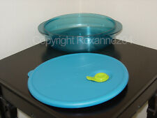 TUPPERWARE VENT 'N SERVE SHALLOW DIVIDED DISH ROUND CONTAINER(1) **NEW**