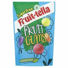 3 X 80G Fruittella Sugar Free Fruit Gums Sweets Pouch with Stevia Extract