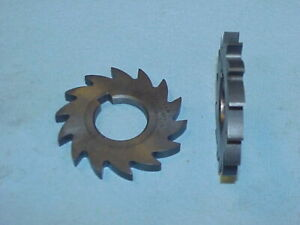 """(2) Horizontal Mill Milling Cutters 2 1/2"""" Dia. X .250 Wide 1"""" Hole"""