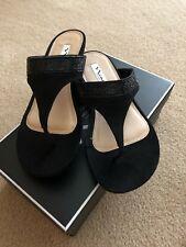 9c75f06fd9aba7 New ListingNEW NINA Micayla Embellished Wedge Flip Flop Black Size 8