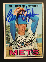 Bill Hepler Mets signed 1967 Topps baseball card #144 Auto Autograph rare 1