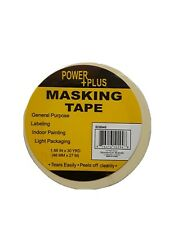 2 Masking tape general Purpose labeling indoor painting 1.88 in x 30 YRD. 27 M