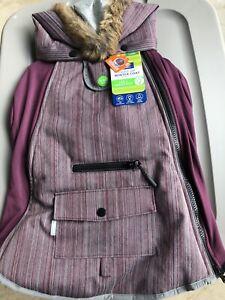 NEW Top Paw Light Up Winter Dog Coat LED Reflective Extra Small Purple Maroon