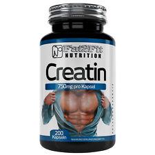 Créatine 200 gélules par 750 mg Creatin Développement Musculaire sport fitness muscles