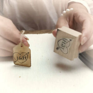 Cupid arrow Initials wedding Rubber Stamp / Personalised Wedding favours Stamp