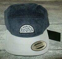 MENS HURLEY CORDUROY NAVY BLUE STRAPBACK HAT ADJUSTABLE CAP ONE SIZE