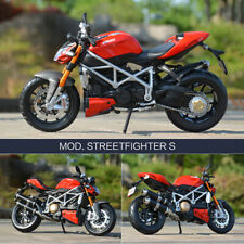 1:18 DUCATI Mod Streetfighter S Motorcycle Diecast Model Collection Autobike