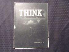 1945 THINK Magazine Jan v.11 #1 G/VG Harry Truman - WW2