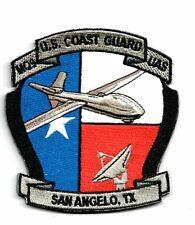 COAST GUARD / CUSTOMS PATCH MQ 9 REAPER USCG UAS OFFICE SAN ANGELO TEXAS W/VELKR
