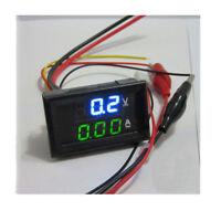 Voltmeter DC 100V Ammeter 10A Dual LED Digital Voltage AMP Power Blue&green