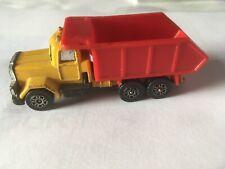 "Corgi  ""MACK Tipper Truck"" - Yellow with Red Tipper Body 1980's"