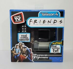 Basic Fun Tiny TV Classics - Friends Clips from Season 4 - Real Working TV - New