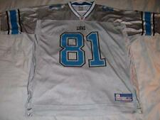 Az-Zahir Hakim 81 Detroit Lions Silver Reebok On Field NFL Jersey Mens XL used