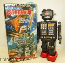 VINTAGE JAPAN HORIKAWA SUPER ASTRONAUT ROTATE O MATIC ROBOT BO SPACE TOY WORKS!