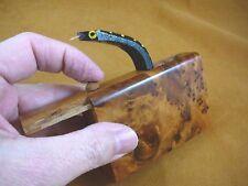 (BOX-900) SNAKE bite box Burl Thuya Wood joke prank trick fun toy Jumping snakes