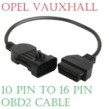 Opel Vauxhall 10 Pin to 16 Pin OBD2 Diagnostic Adapter Cable for GM OP COM
