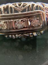 Antique 18 K White Gold Filigree Art Deco Ring. Pre 1930's Estate Piece