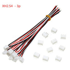 10 Set Mini Micro JST XH2.54mm 3-Pin Connector Plug W/ Electric Wire Cable 150mm