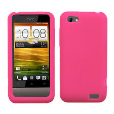 For Virgin Mobile HTC One V SILICONE Soft Gel SKIN Case Phone Cover Hot Pink