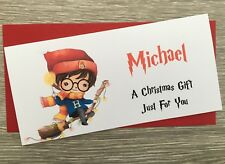 Personalised Christmas Gift Card Money Wallet Voucher Concert Tkts Harry Potter