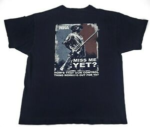 Patriotic Firearm NRA Graphic T-shirt Size Large L