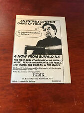"1981 VINTAGE 4""X5"" ALBUM PROMO PRINT Ad FOR 4 NOW From Buffalo THE STAINS,COBRAS"