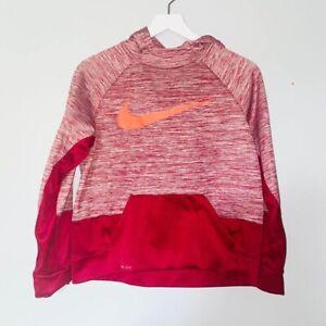 Nike hoodie sweatshirt pullover boys youth red xl euc AA