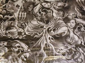 Wassertransferdruck Folie Skulls and sexy Girls 2 - 100cm breit