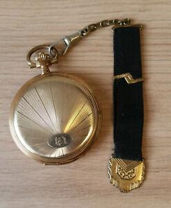 Elhero Precision Steinmeyer's Original Taschenuhr vergoldet