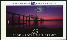 Great Britain PRESTIGE BOOKLET 1995 Scots Connection W/ World Stamps Expo OVPT $