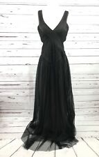 BCBG Max Azria Preowned  Black Womens Size 2 Illusion Prom Gown Dress $398