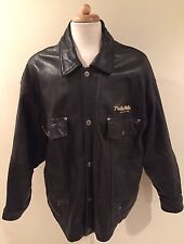 Rare VTG PELLE PELLE MARC BUCHANAN Motorcycle Biker Bomber Leather Jacket Sz 50