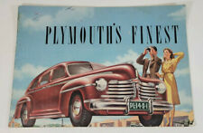Vintage 1940s Chrysler Plymouth's Finest Car Automobile Catalog Brochure
