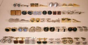 -36 LOT Vintage 28 Pair Cuff Links & 7 Matching Tie Bars & 1 Matching Tack (36u)