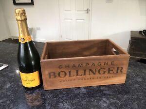 Bollinger Champagne Wooden Vintage Style Box 35cm