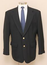 Mens 44R Stafford Blue Wool Blend Blazer with Gold Buttons