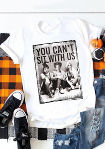 HOCUS POCUS YOU CANT SIT WITH US Halloween  T-shirt Womens Fashionable Tee