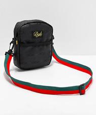 DGK Lux Unisex Black Designer Crossbody Shoulder Messenger Bag Sling Pack