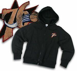 Philadelphia 76ers NBA Womens Reebok Vintage Logo, Full Zip Fleece Jacket, Black