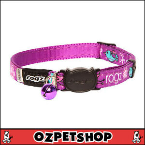 Rogz FancyCat Cat Collar - Purple Lovebirds  Design