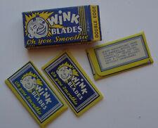 Vintage USA Razor Blades WINK Pack of 3 RARE