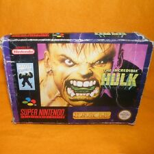 Vintage super nintendo entertainment system snes l'incroyable HULK jeu boxed