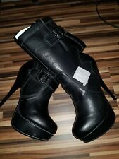 Women's black mid calf boots size 4