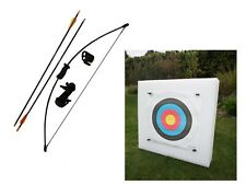 Kids Archery Bow and Arrow Set with Target and Faces Kit
