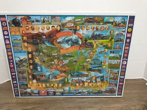 White Mountain Puzzle Historical American Railways 1000 Piece NEW Sealed 1996